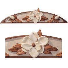 I-242 Magnolia Bloom Intarsia Woodworking Pattern JGR