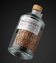 Woodker on Packaging of the World - Creative Package Design Gallery Beverage Packaging, Bottle Packaging, Bottle Labels, Label Design, Branding Design, Package Design, Wine Design, Design Packaging, Identity Branding