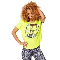 Zumba Womens Nation Tulip Top Caution Medium *** Check this awesome product by going to the link at the image.