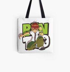 'Ben 10 and Gwen kids' Tote Bag by StefaniaAlina Ben 10 And Gwen, Cotton Tote Bags, Reusable Tote Bags, Kids Tote Bag, Poplin Fabric, Chiffon Tops, Shopping Bag, Mothers, Classic T Shirts