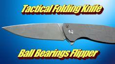 Bear Tactical Folding Knife Ball Bearings Flipper
