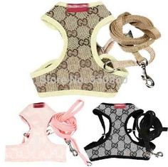 Dog Cute Harness For Teddy ,Pet Vest Chihuahua Traction Rope Puppy Collar Lead Harness