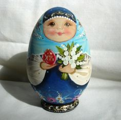 Easter Matroyshka | Russian Hand Painted Collectible Wooden Easter Egg Matryoshka Style