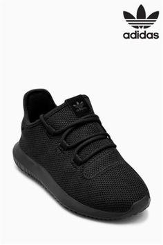 Black adidas Originals Tubular Shadow