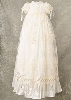 Sophi Heirloom Silk Christening Gown. $460.00, via Etsy.