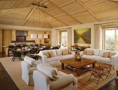open concept living dining room