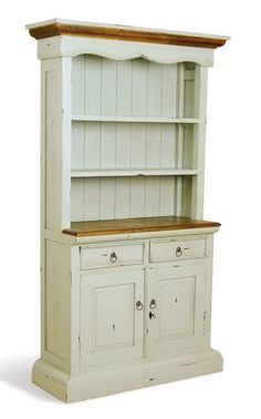 cottage style dresser photo | Farmhouse Antiqued Mint Green Kitchen Dresser - 10 Colours