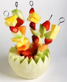 Nim's Tropical Fruit Kebabs