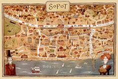 Sopot map - Poland Adam Pekalski
