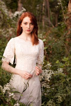 bohemian whimsical wedding dress with sleeves