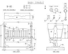 16 BABY FURNITURE PLANS: FREE CRADLE PLANS, FREE CRIB