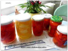 Kapia v oleji a sladkokyslom náleve bez sterilizácie (fotorecept) Kimchi, Hot Sauce Bottles, Salsa, Jar, Homemade, Red Peppers, Home Made, Salsa Music, Jars