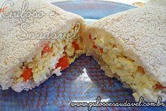 Tapioca de Ovos Mexidos, Legumes e Ricota » Pães e Salgados, Receitas Saudáveis, Sanduíches » Guloso e Saudável
