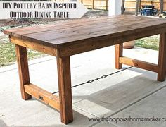 I can't believe this table cost less than $100 and took only one afternoon to make!