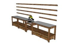 Miter Saw Workstation Plans - WoodWorking Projects & Plans