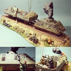 "Wehrmacht Railcruzer ""Deadline"" 1/35 diorama. Unknown modeler #scalemodel #plastimodelismo #miniatura #hobby #diorama #plastickits #usinadoskits #udk"