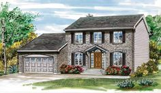Colonial Revival House Plan with 1938 Square Feet and 4 Bedrooms from Dream Home Source | House Plan Code DHSW03933