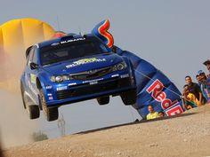 Subaru Impreza STi WRC in rullaggio per decollo dalla pista N°1 !!