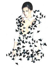 Fashion Illustration by Nabil Nezzar Illustration.Files: Créatrice