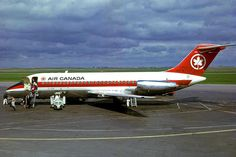 """Vintage Aircraft A Douglas of Air Canada at YYC in 1967 - wikimedia - """" Air Canada Flights, Canadian Airlines, Aviation Accidents, Air Transat, Northwest Airlines, Douglas Aircraft, Passenger Aircraft, Air Photo, Private Plane"""