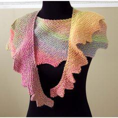 Knit Shawl, Australian Merino, Woollen Shawlette, Luxury Scarf,... ($84) ❤ liked on Polyvore featuring accessories, scarves, woolen scarves, merino shawl, hand knitted scarves, shawl scarves and rainbow scarves