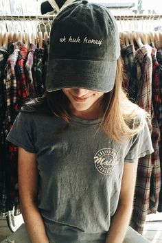Brandy ♥ Melville | Katherine Uh Huh Honey Cap - Hats & Caps - Accessories