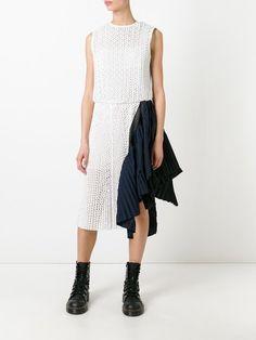 Sacai asymmetric dot lace dress