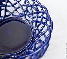 Ажурная фруктовница. Плетеная керамика Елены Зайченко. Фото Е.Атлас