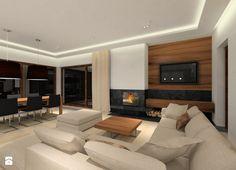 81 Interior Design Ideas for Mens Living Room Projekt domu Duży salon z jadalnią styl nowoczesny zdjęcie od