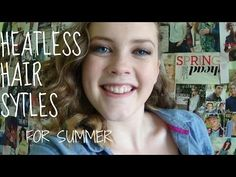 ▶ heatless hairstyles for summer! - YouTube