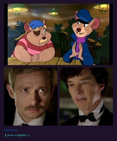 The Sherlock 'staches, crossover version.