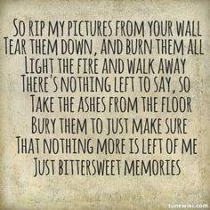 Bittersweet Memories by Bullet For My Valentine. My favorite song, <3