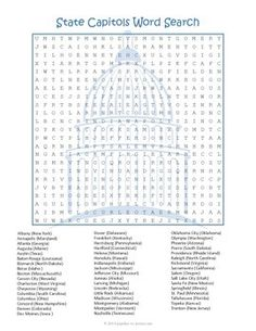 united states word search fifty states broken down in two puzzles teaching 50 states. Black Bedroom Furniture Sets. Home Design Ideas