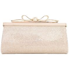 Pre-owned Judith Leiber Tatiana Champagne Clutch (4,670 PEN) ❤ liked on Polyvore featuring bags, handbags, clutches, purses, bolsas, champagne, pre owned handbags, judith leiber handbag, pre owned purses and handbags purses