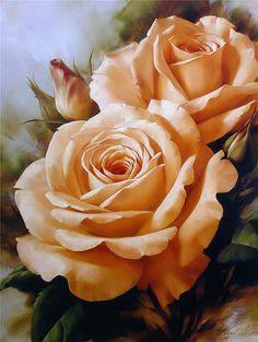 Igor Levashov,flower paintings
