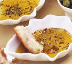 This is that olive oil stuff restaurants always have for dipping bread! 1 tbls each red pepper flakes, ground black pepper,dried oregano, rosmary, basil parsley garlic poder, minced garlic, 1 teaspoon salt, ground in coffee grinder. place 2 tbls in small boil, cover with small amount of olive oil.   serve with italian bread for dipping  store remaining in air tight containiner