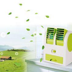 Portable USB Ultra-Quiet No Leaves Mini Air Conditioning Fan Aromatherapy Fan Ventilador ar Condicionado VHG83 T15 0.5
