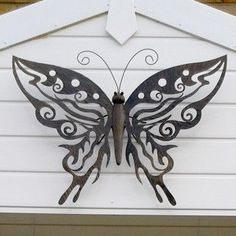 Large Decorative Metal Butterfly Garden Wall Art Black / Brown Finish £29.99