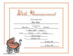 A Blank Birth Certificate Enchanting A Birth Certificate Refers To A Document Or Rather A Certificate .
