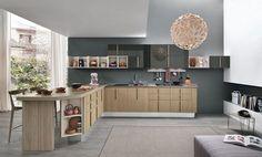 Isla en L puede definir la forma de la cocina o cumplir con el espacio con mayor  almacenamiento y preparación