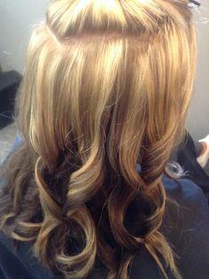 Blonde hair. Reverse ombré by Teri at J McQueen Salon . Cincinnati