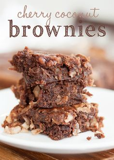 Cherry coconut brownie recipe #recipe #brownie