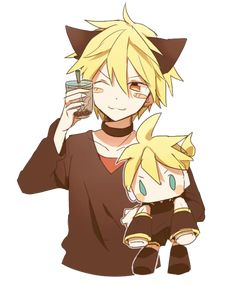 The two best things in the world,  Tapioca and Len~Kun! -96Neko
