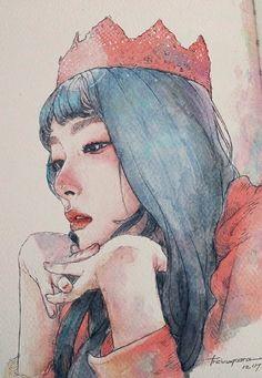 Kpop Drawings, My Drawings, Portrait Art, Portraits, Wallpaper Wall, Korean Art, Kpop Fanart, Cute Art, Art Inspo