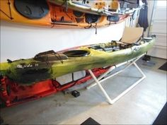 DIY PVC Kayak Stand - Sean ToDo - and DONE - makes cleaning off Kayaks so much easier on the patio!!
