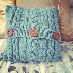 Aran mini cushion
