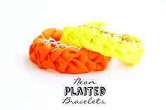 DIY Neon Plaited Bracelets Tutorial