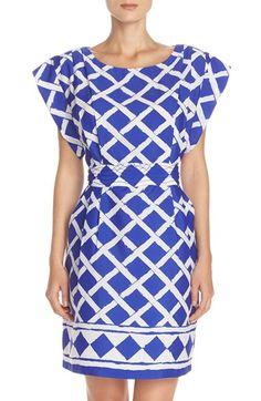 Eliza J Print Crêpe de Chine A-Line Dress available at #Nordstrom