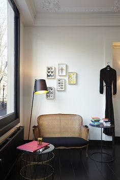 Maison Rika is the guesthouse and small gallery space from Ulrika Lundgren, located upstairs the Rika showroom in Amsterdam.