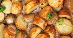 Ovnsbakte poteter med eddik Pretzel Bites, Sprouts, Tapas, Lunch, Bread, Homemade, Dinner, Vegetables, Recipes